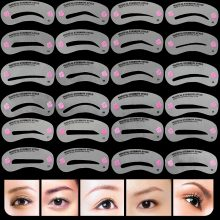 Transparent Durable Reusable Eyebrow Stencils Set