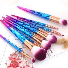 Diamond Handle Makeup Brushes Set